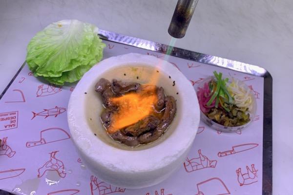 Lettuce wraps at Sala de Despiece on Calle Ponzano
