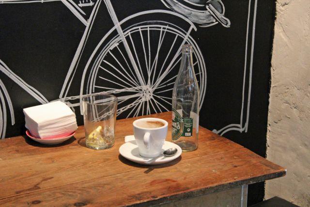 Coffee shop La Bicicleta is one of Madrid's torrefacto-free zones.