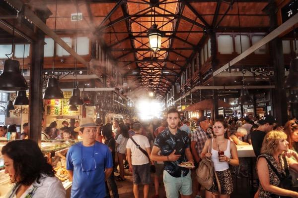 It get's busy in the Mercado de San Miguel