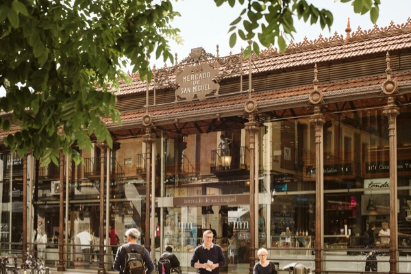 Mercado de San Miguel today - a beautiful cast-iron structure.