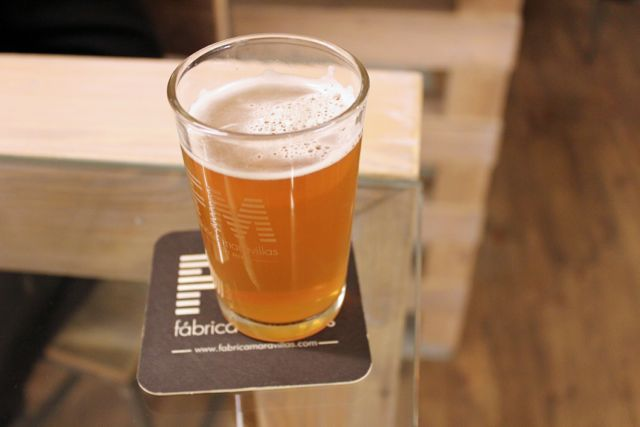 A glass of beer in Madrid's (and perhaps Spain's) best brewpub