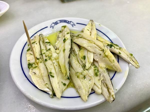 Vinegar-marinated anchovies