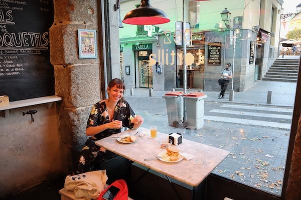 Yoly at tapas bar Pez Tortilla