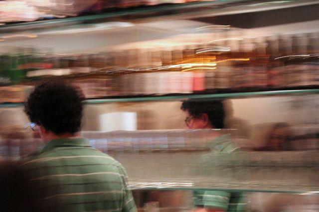 Bartender Javi at Irreale bar, Madrid