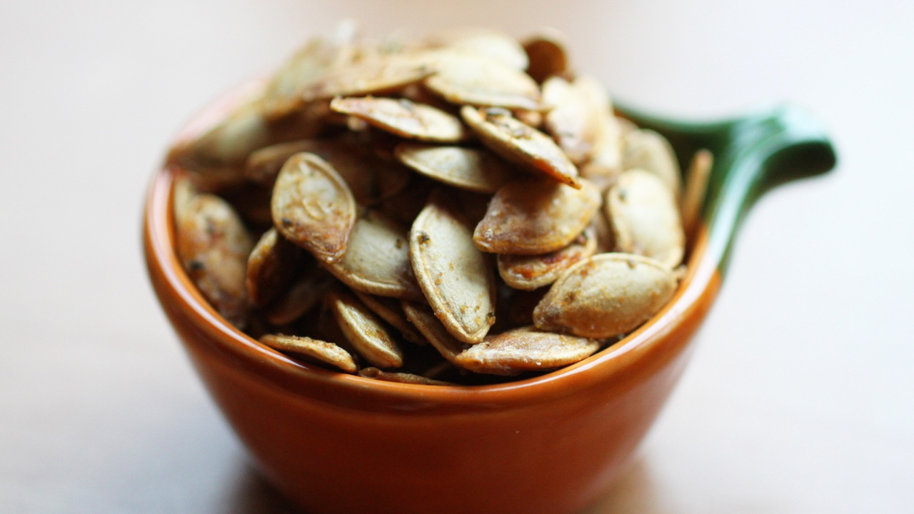 Duck Fat and Herb Roasted Pumpkin Seeds