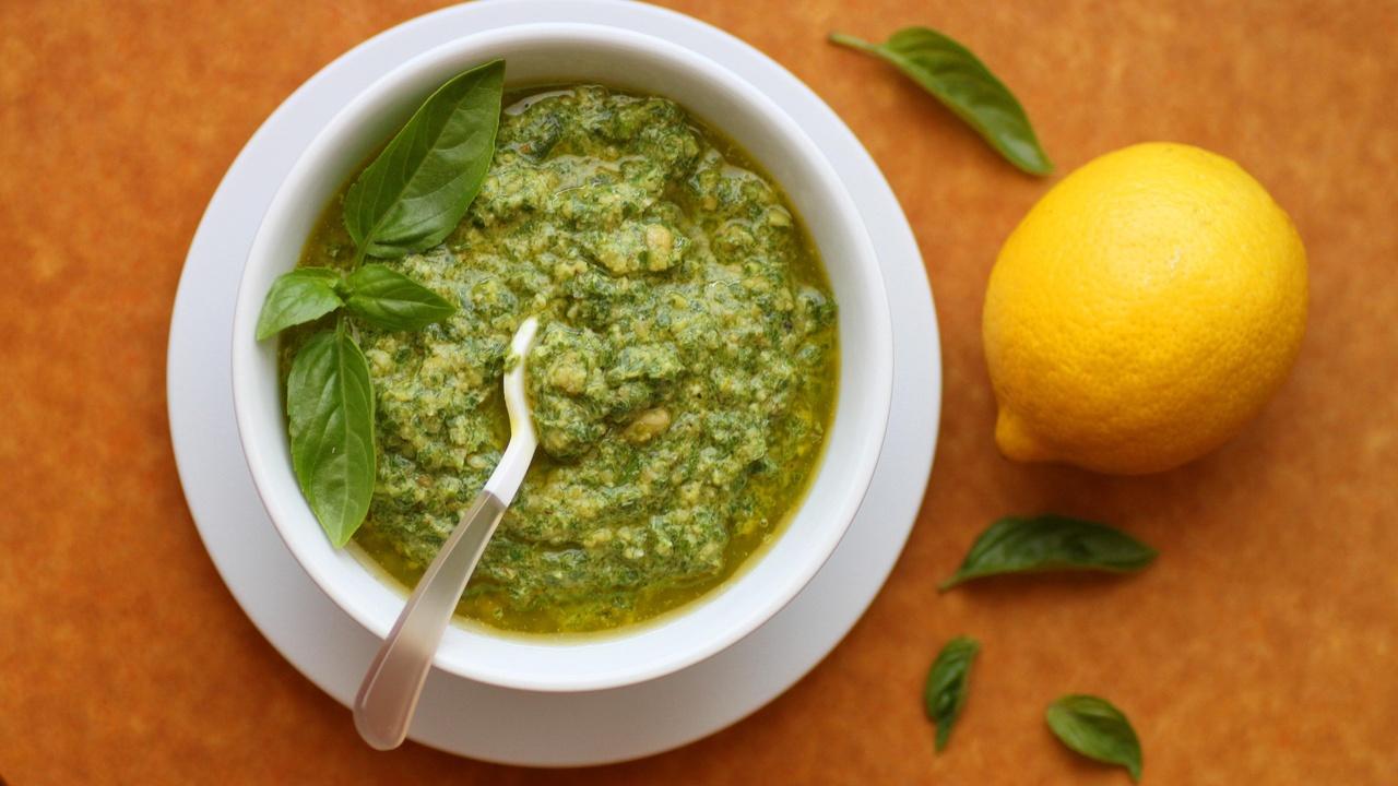 dairy-free lemon basil pesto