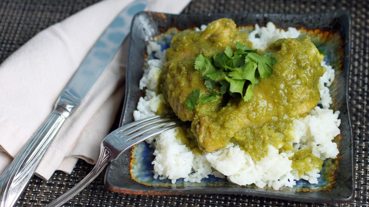 chicken cilantro with white rice