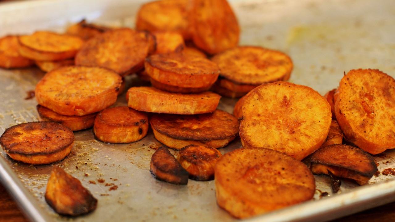 crispy sweet potato rounds