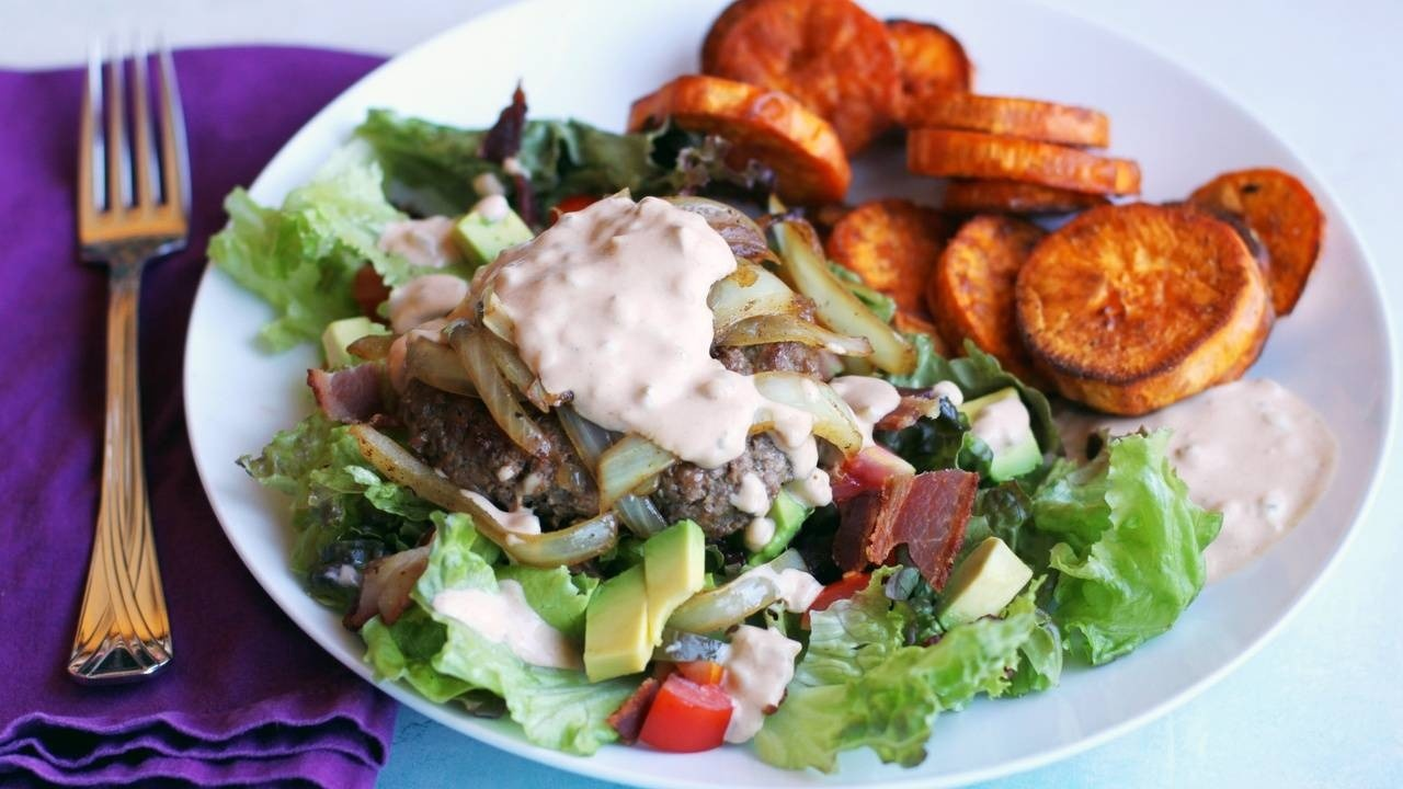 Deluxe Burger Salad with Special Sauce