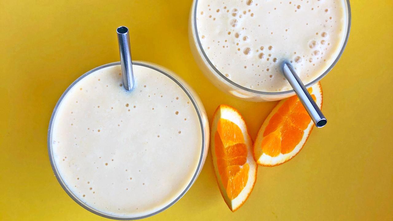 banana orange creamsicle protein smoothie dairy-free