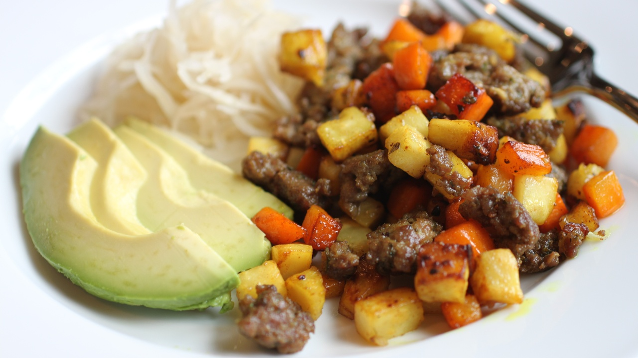 AIP Lamb Hash with Carrot and Celery Root