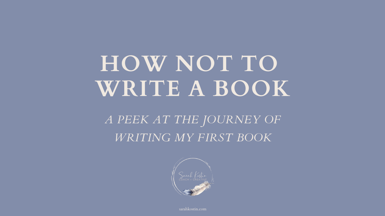 My experience writing my first book and self publishing it.