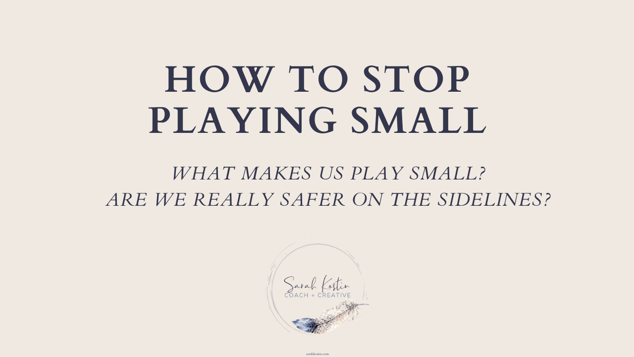 Many people are tired of playing small or on the sideliines of life. Learn what the difference is between playing small and living big.