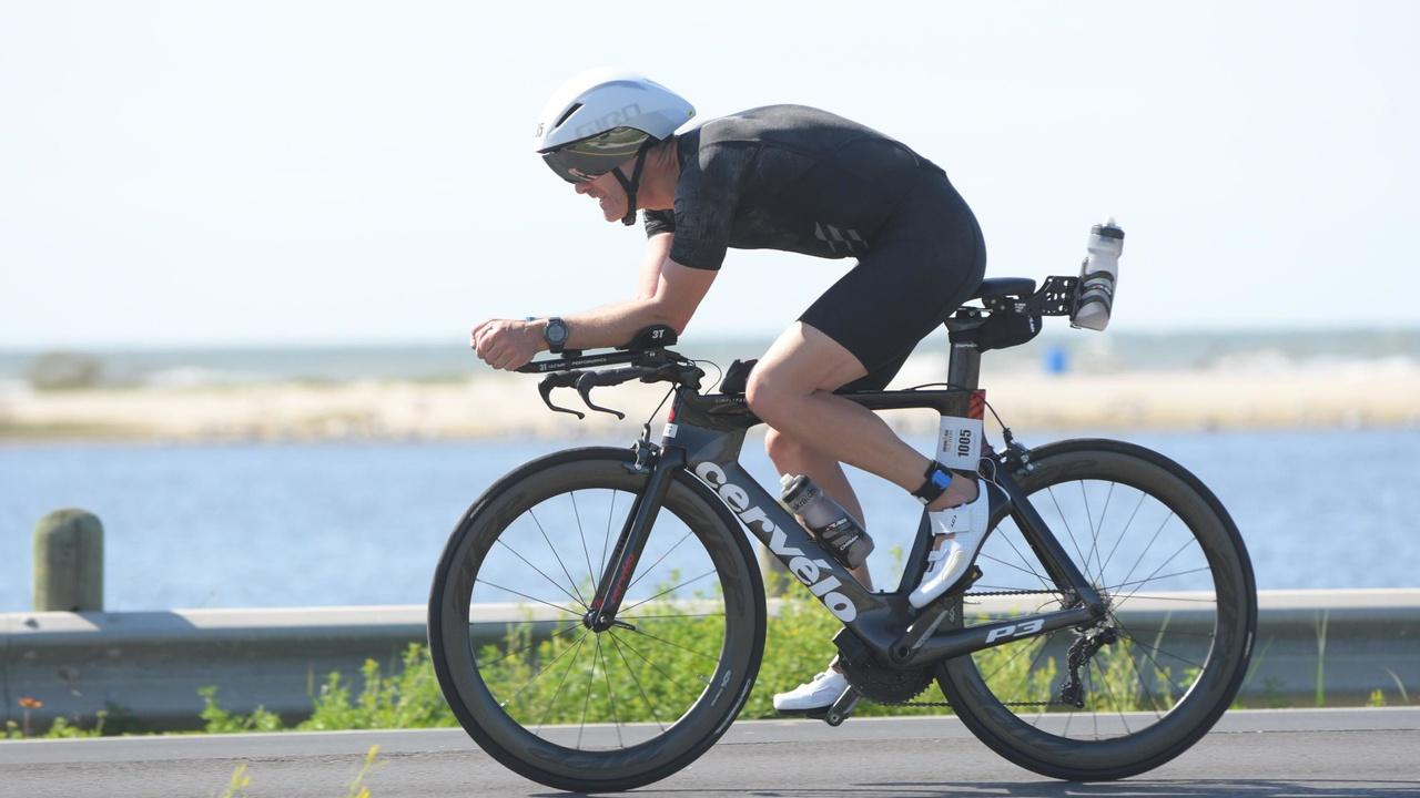 Athlete at Ironman 70.3 Texas
