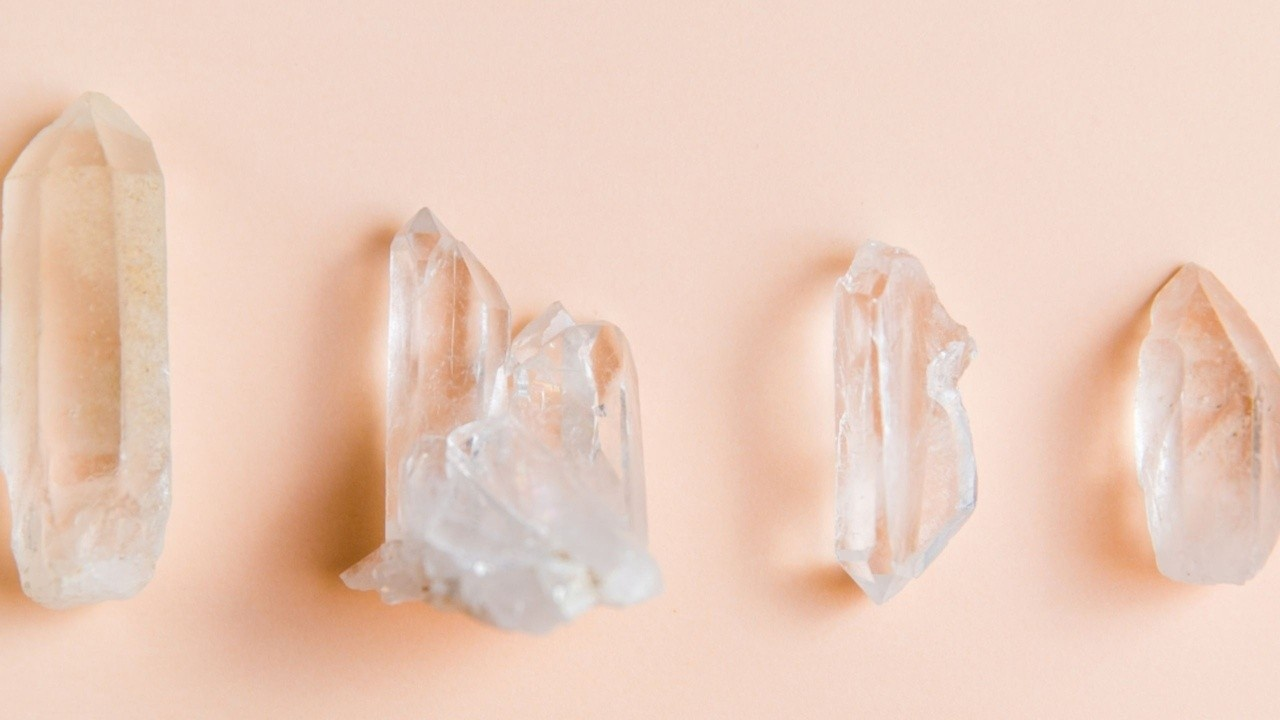 clear healing crystals