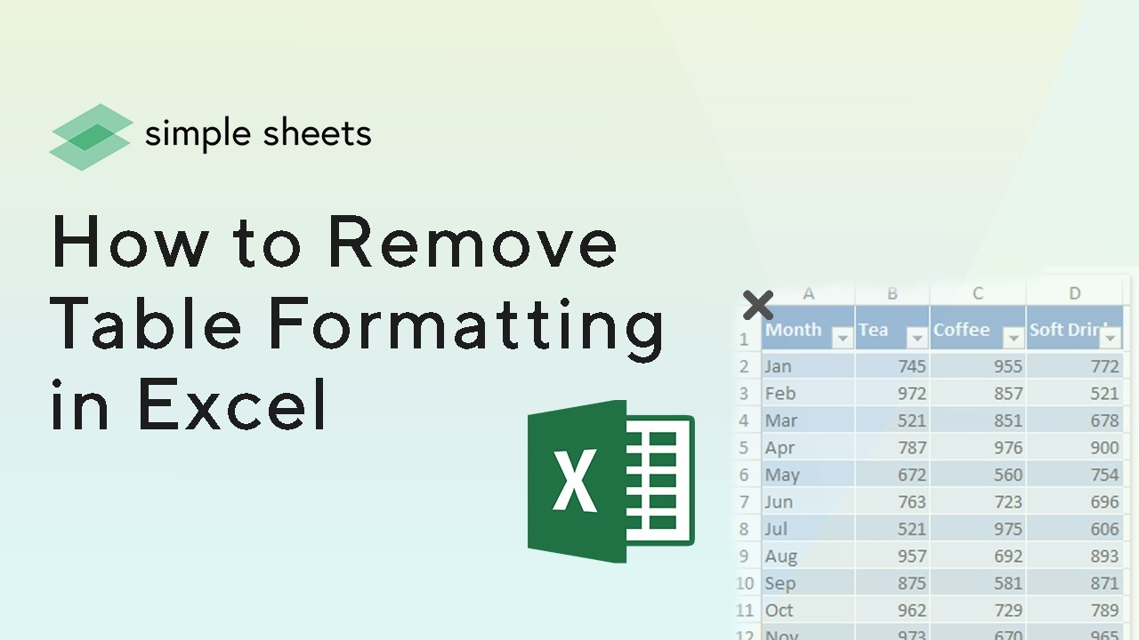 Learn how to remove table formatting while preserving your data in this blogpost.