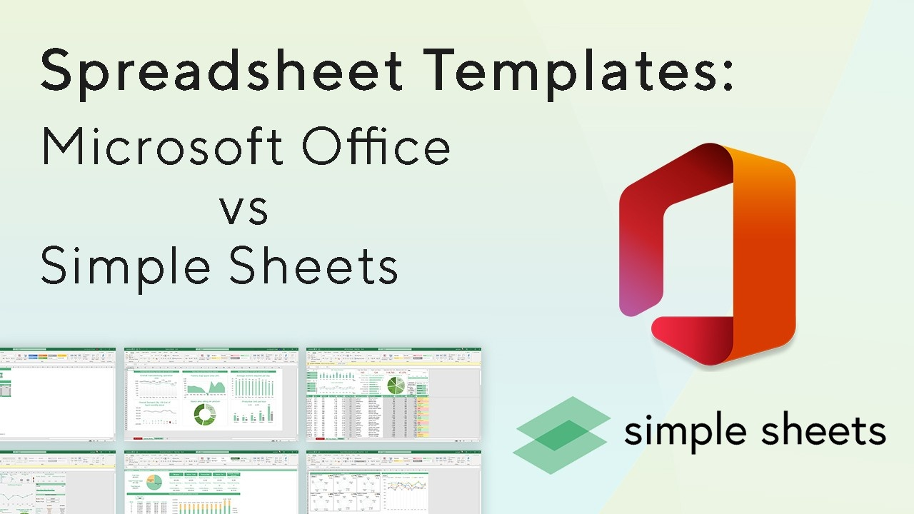 Microsoft Office templates hardly compare to the spreadsheet templates from Simple Sheets. In this post, we compare multiple spreadsheet providers.