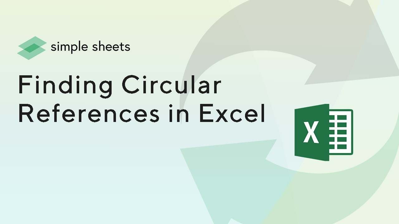 Circular references can be a nuisance. Learn how to spot them with this blogpost.