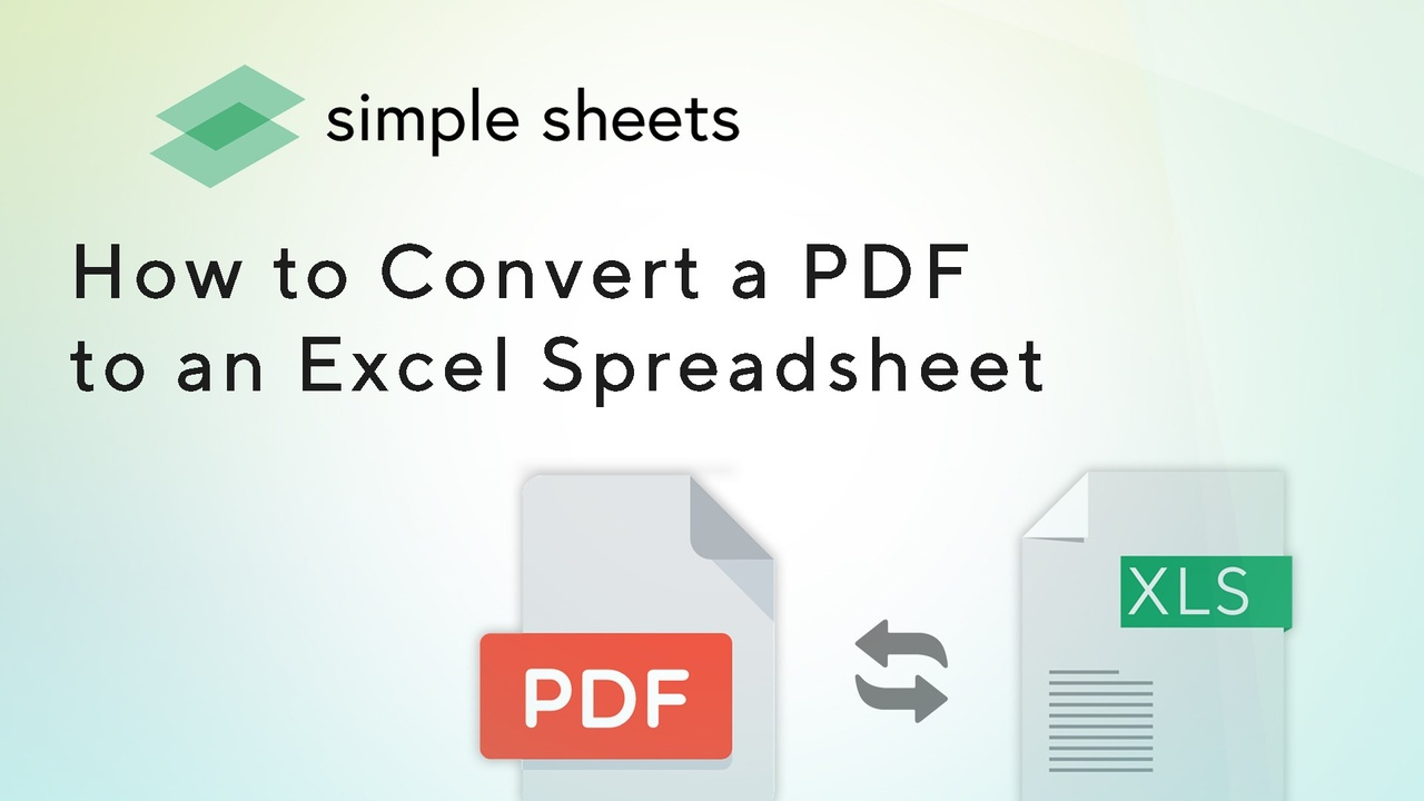 Learn how to convert a PDF file to an Excel Spreadsheet using converters that make it easy and free.