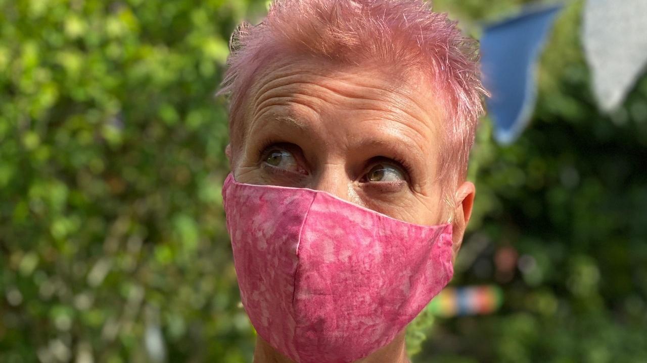Annis Fender in face mask