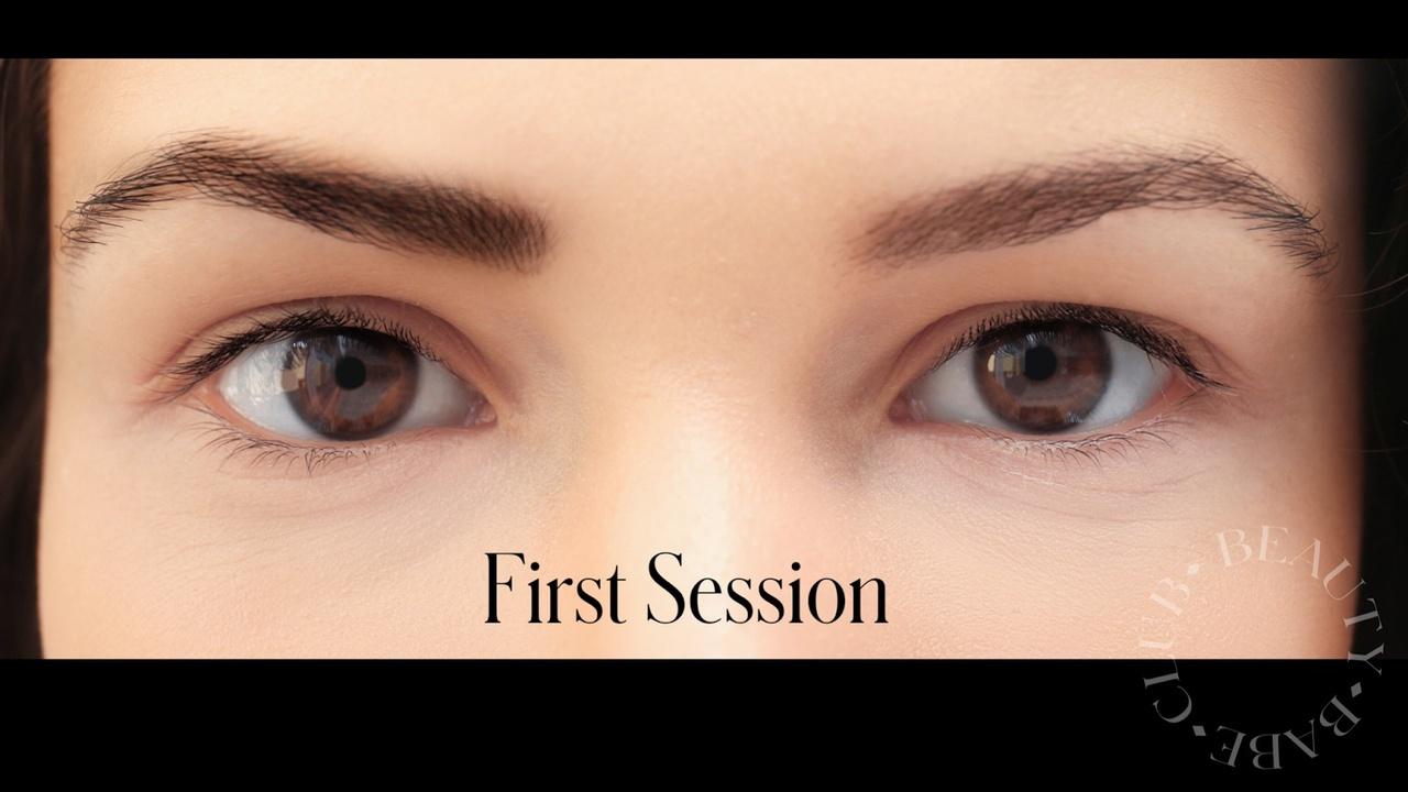 woman's eye brows