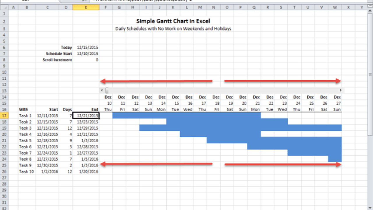 Build a Simple Scrolling Gantt Chart in Excel for Consulting Projects