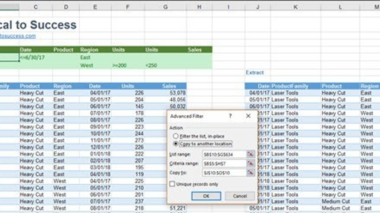 Excel's Advanced Filters are Critical for Consultants