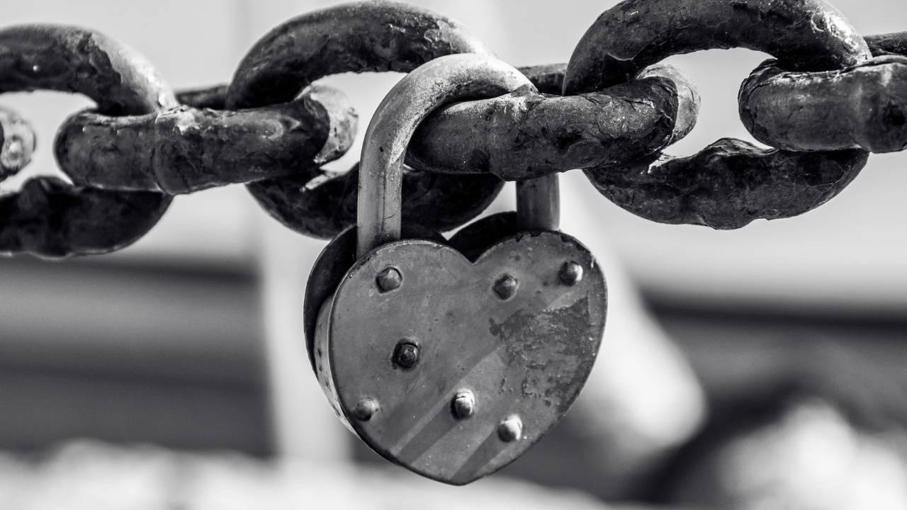 closed guarded heart lock