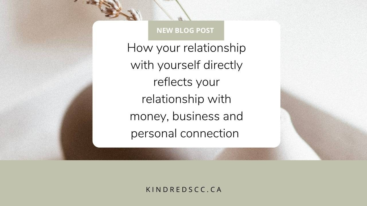 How your relationship with yourself directly reflects....