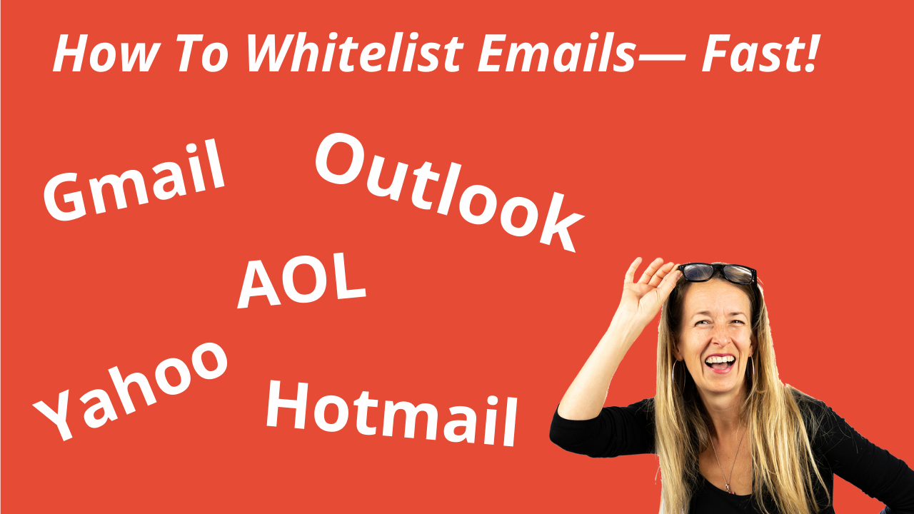 how to whitelist emails copywriting chick image