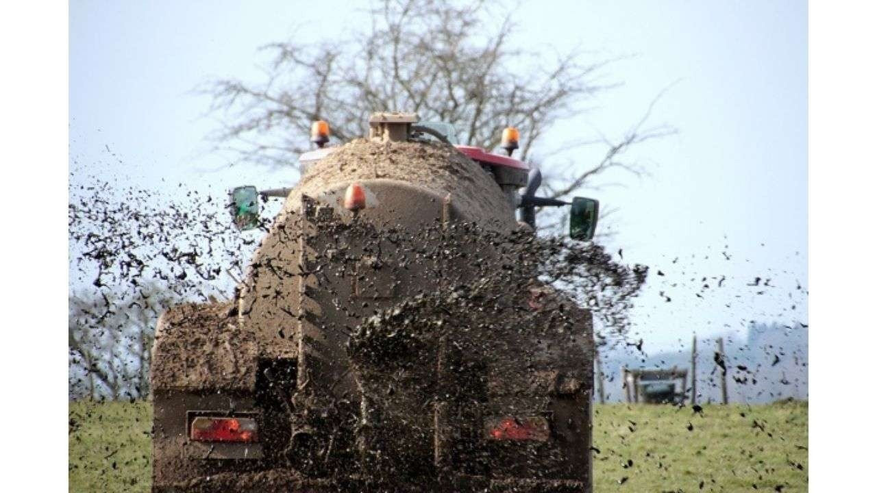 Truck covered with mud