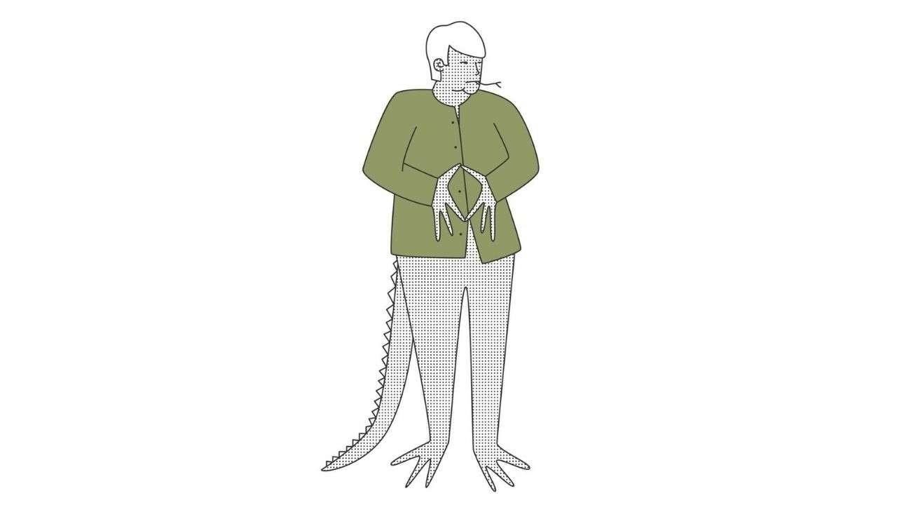 Lizard-shaped Merkel illustration