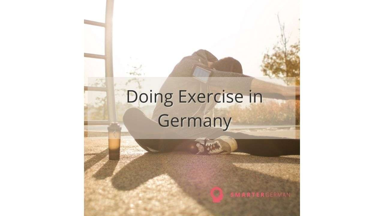 Person doing exercise. Title in the middle:
