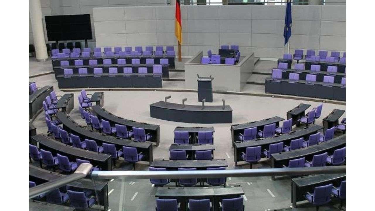 Empty German parliament photo