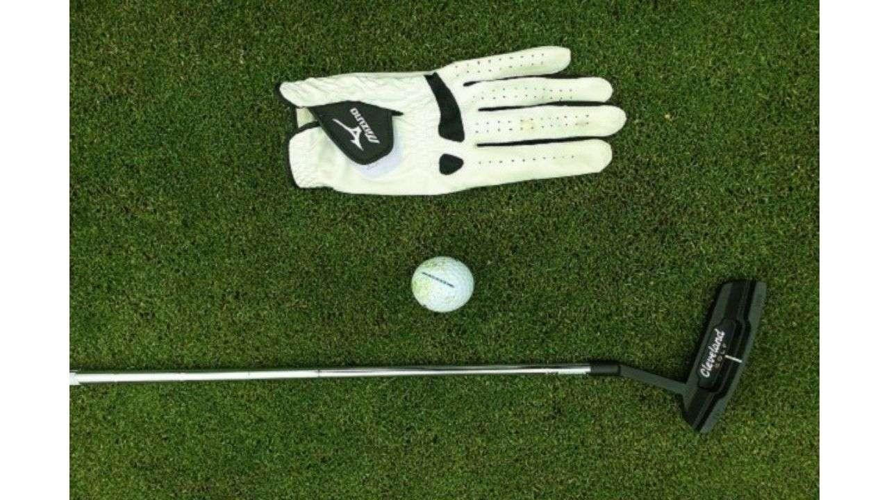Golf equipment over grass