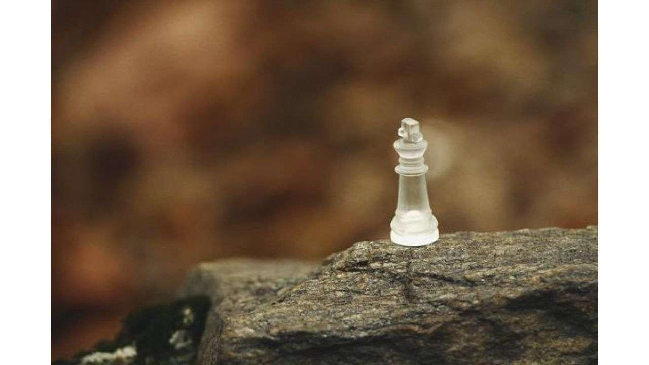 Chess piece in a stone