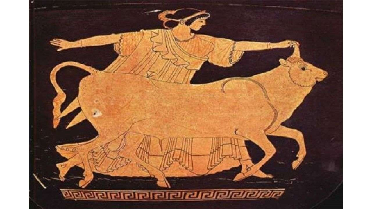 Greek ceramic painting