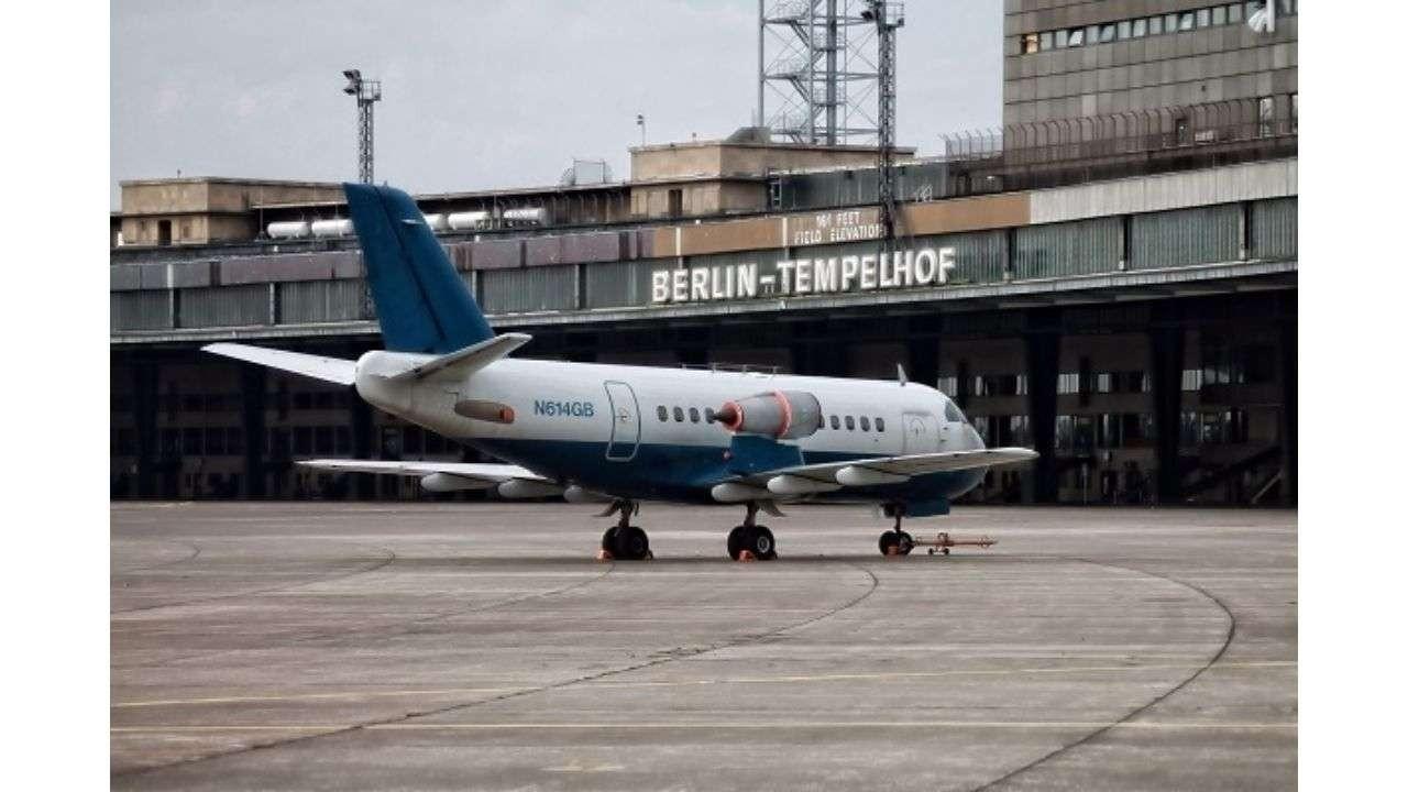 Airplane in Berlin-Tempelhof