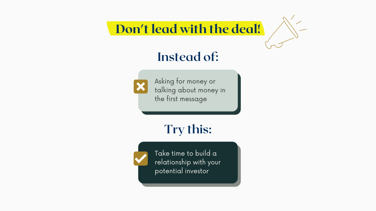 Don't lead with the deal!