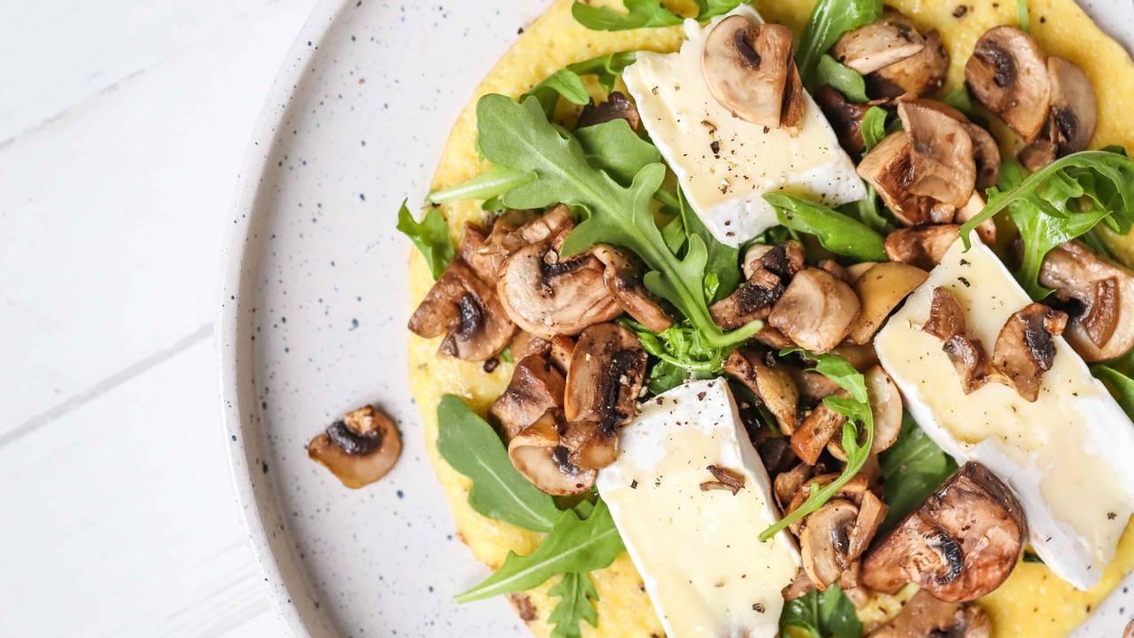 Mushroom & Brie Omelet