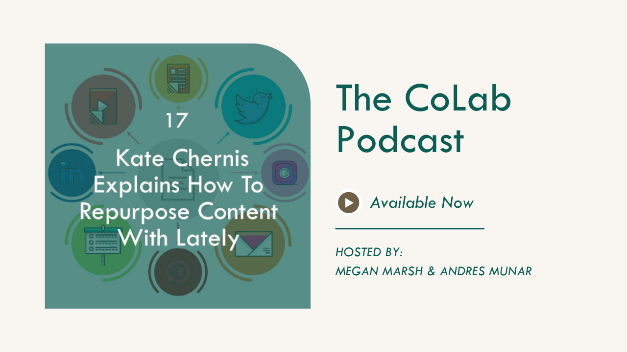 Kate Chernis Explains How To Repurpose Content With Lately