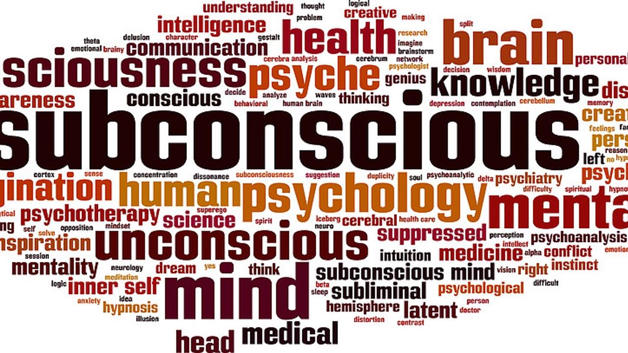Subconscious mind word bubble