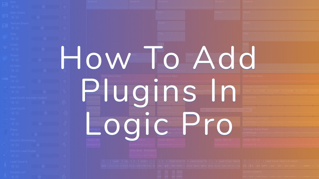 How To Add Plugins In Logic Pro