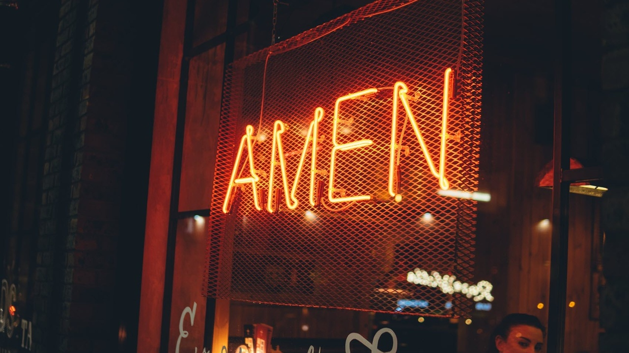 amen neon light