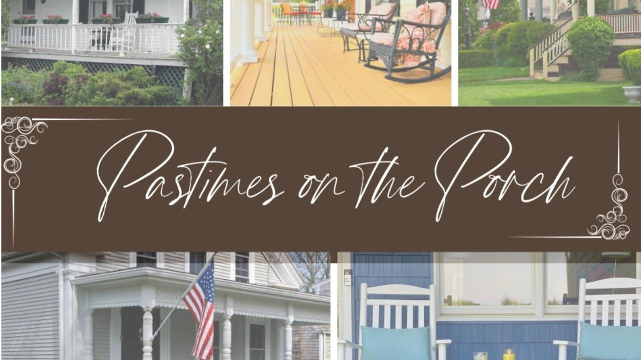 Overview of different porches during daylight