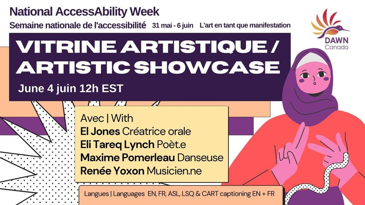 National AccessAbility Week Artistic Showcase poster