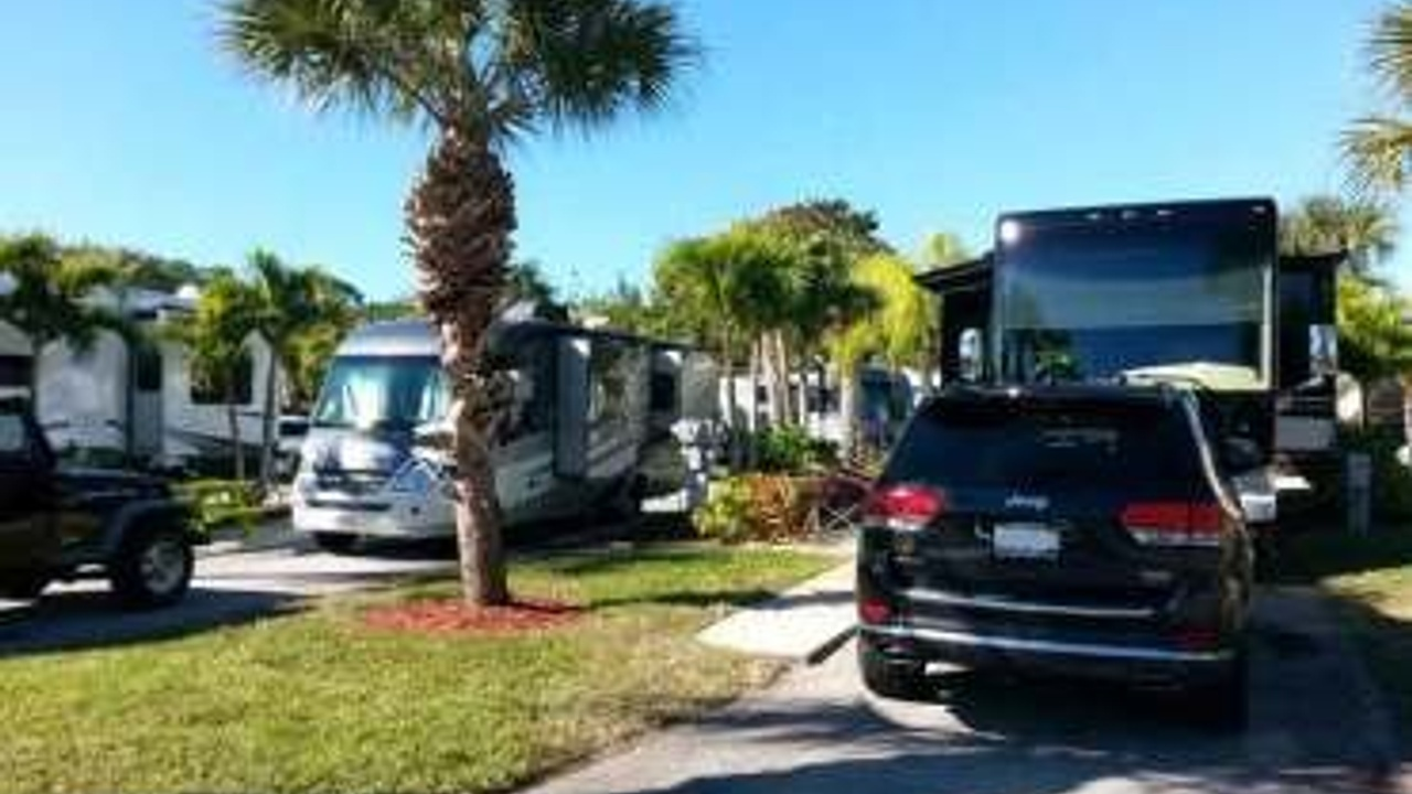 RVs and a car