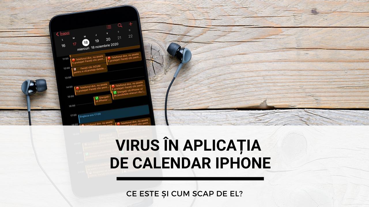 Virus în aplicația de calendar iPhone.