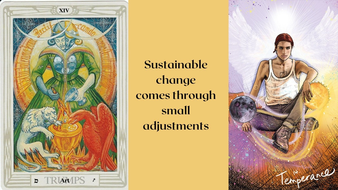 The Temperance card for overwhelm