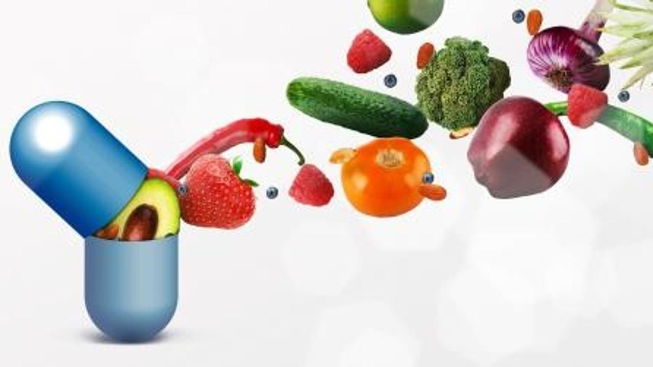 Capsule qui s'ouvre contenant fruits et légumes